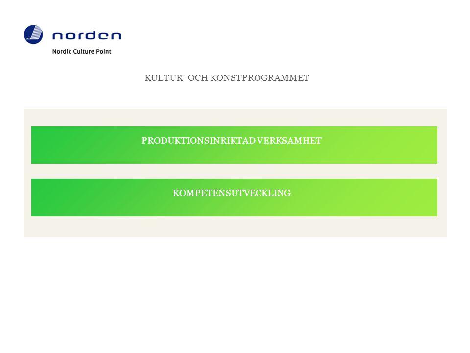 KULTUR- OCH KONSTPROGRAMMET STÖD till PRODUKTIONSINRIKTAD verksamhet •För att producera nya verk, projekt och andra nya initiativ •Inte för återkommande eller påbörjade arrangemang •Stöd för alla faser av projektet - för-projekt (max 13 000 EUR / 100%) - pilot projekt (max 40 000 EU / 75%) - projekt (max 100 000 EUR / 50%) •Programmet är öppet för både professionella och amatörer Kitchen, Foto: Rünno Lahesoo