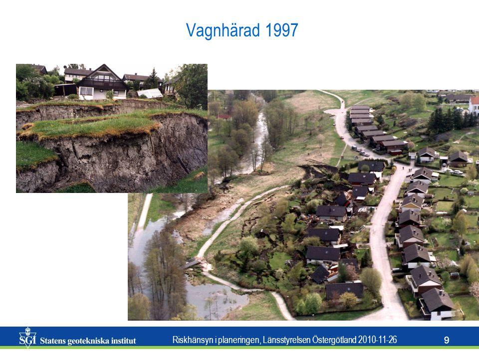 Riskhänsyn i planeringen, Länsstyrelsen Östergötland 2010-11-26 10 Ballabo 1996 Surte1950 Göta 1957