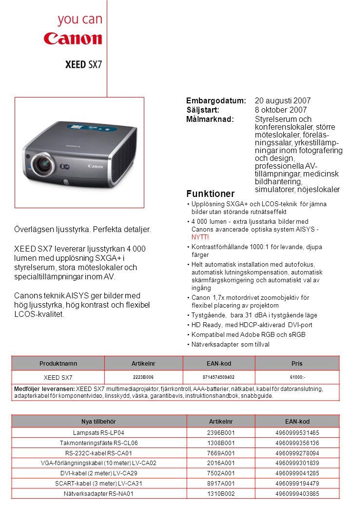 Tekniska specifikationer LCD-PANEL TypLCOS reflekterande display, TFT aktiv matris Storlek och antal0,7 diagonalt (15 x 11 mm), 3 paneler Sidförhållande4:3 Antal pixels1400 x 1050 (SXGA+), 1 470 000 pixels OPTIK Lamptyp275 W NSH (AC) Max.