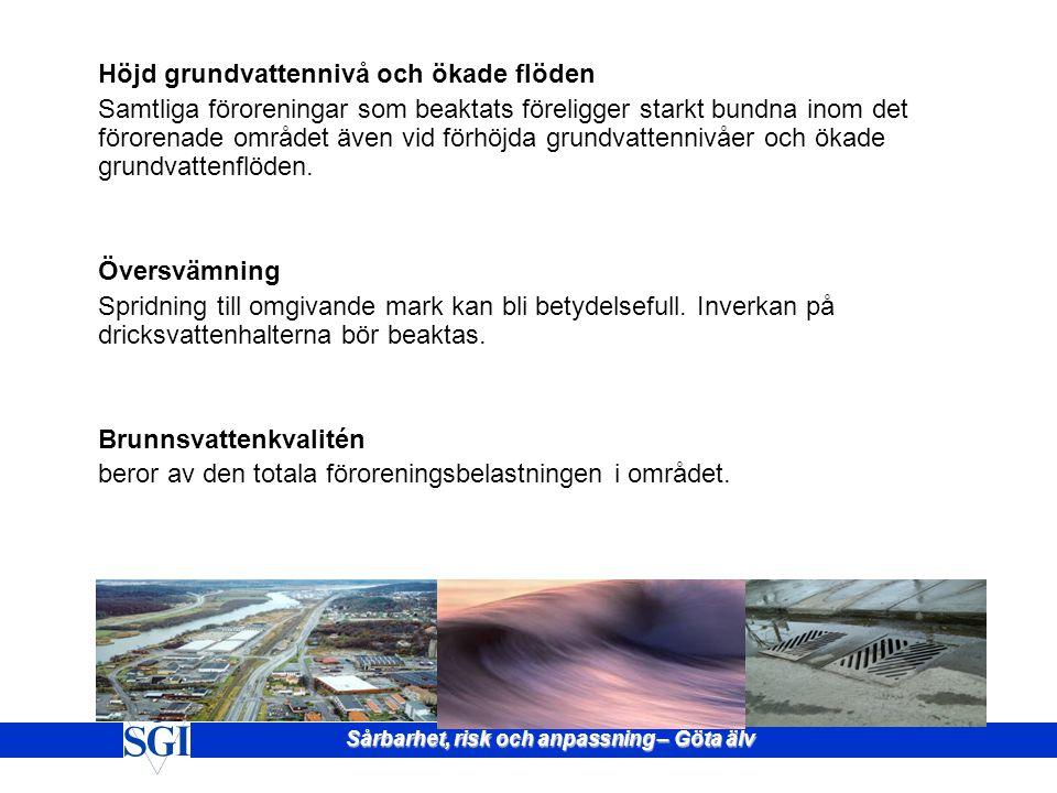 Totalt 376 pågående A och B klassade verksamheter (EMIR) (V. Götaland 53) 932 av Länsstyrelserna redovisade förorenade områden.(V. Götaland 68) Känsli