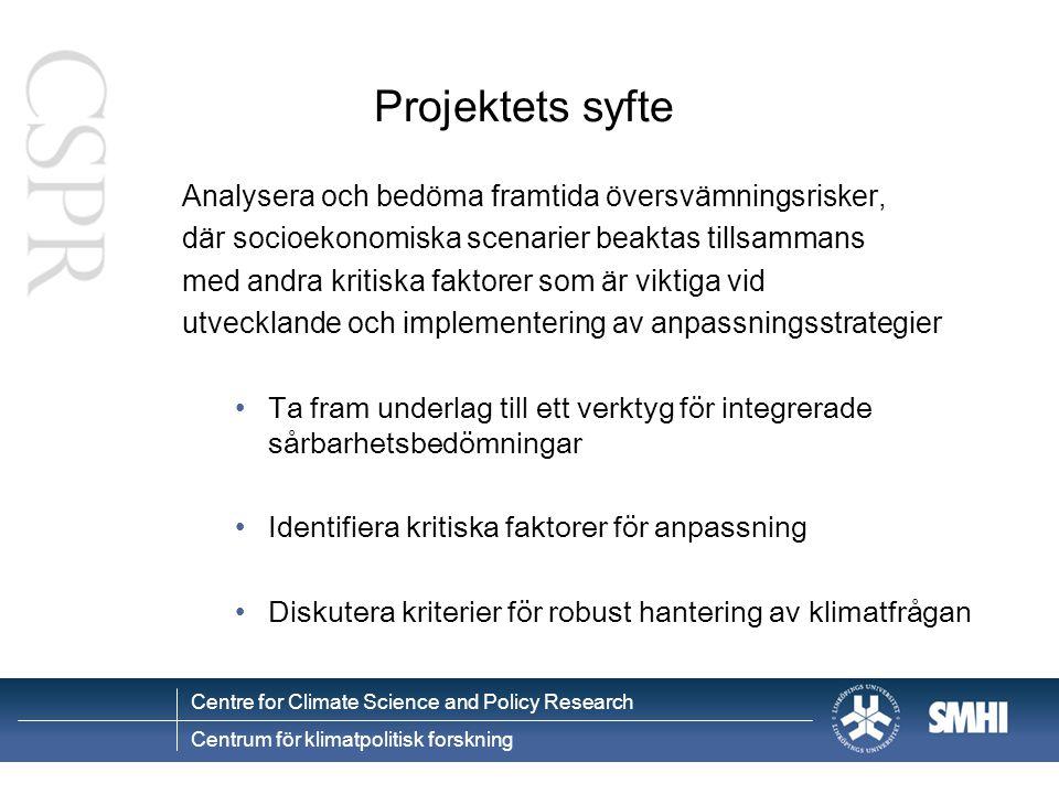 Centre for Climate Science and Policy Research Centrum för klimatpolitisk forskning Klimatsårbarhets index