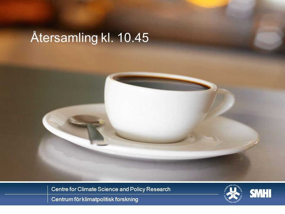 Centre for Climate Science and Policy Research Centrum för klimatpolitisk forskning Projektets tidsplan 200820102009 Processdesign och projekt- planering Presentation av slutsatser, publikationer 1 A 3 2 CD Val av kommun och case Syntesanalys av projektets frågeställningar Genomförande av integrerade sårbarhets- bedömningar B