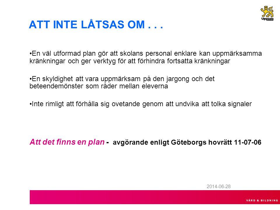 2014-06-28 ATT INTE LÅTSAS OM...