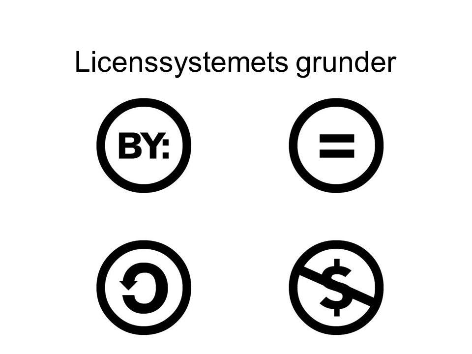 Licenssystemets grunder