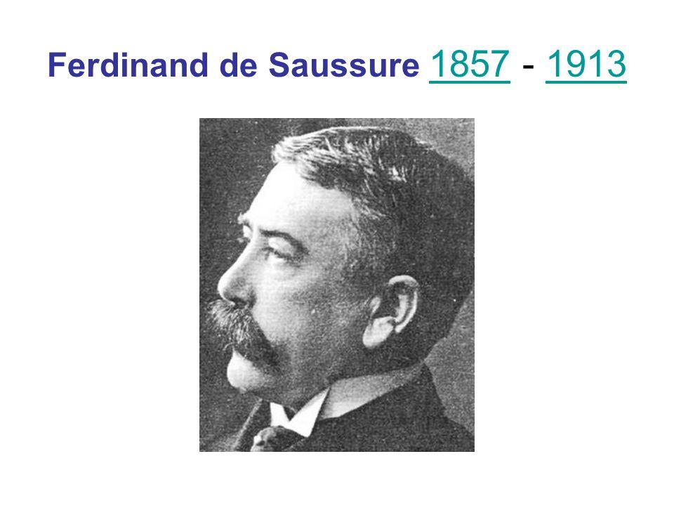Ferdinand de Saussure 1857 - 1913 18571913