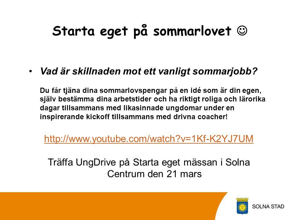 Vilka och hur många sommarjobb erbjuder vi i Solna stad? Kontor Service kring Fotbolls EM Trädgård/ utomhusarbete Restaurang/ café Butik Förskola/frit