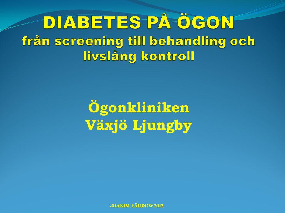 IVT – intravitreala injektioner  Läkemedel med anti-VEGF som injiceras in i ögats glaskropp vid synnedsättande DME JOAKIM FÄRDOW 2012