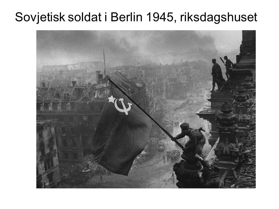 Sovjetisk soldat i Berlin 1945, riksdagshuset