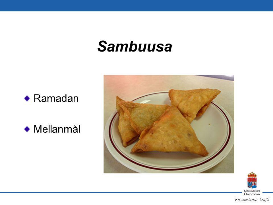 En samlande kraft! Sambuusa Ramadan Mellanmål