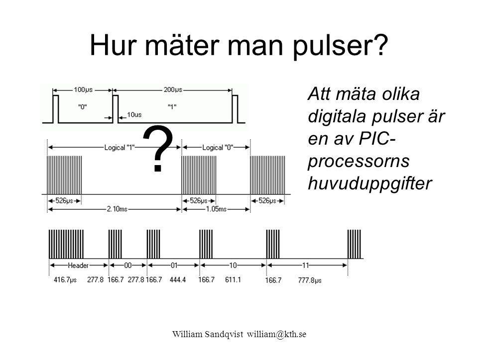 William Sandqvist william@kth.se Frekvensmätning Lägre mätfrekvens kräver att mättiden förlängs genom att man delar ned referens-frekvensen f CLK med en prescaler.