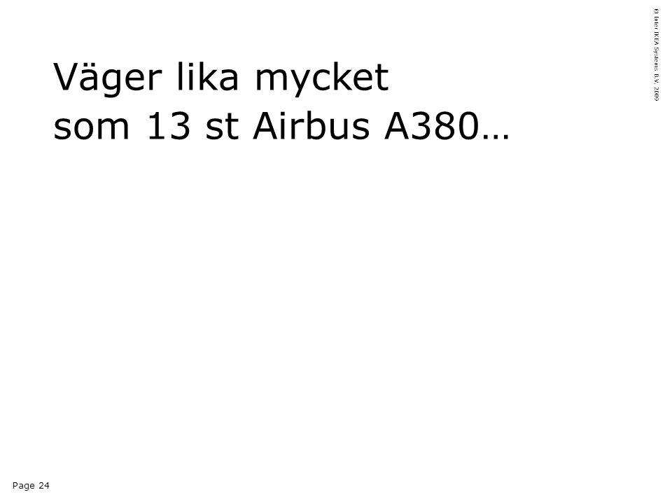 Page 24 © Inter IKEA Systems B.V. 2009 Väger lika mycket som 13 st Airbus A380…