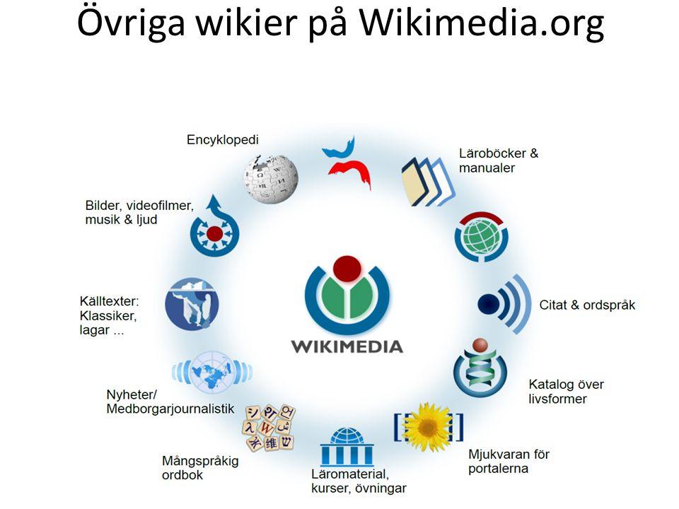 Övriga wikier på Wikimedia.org