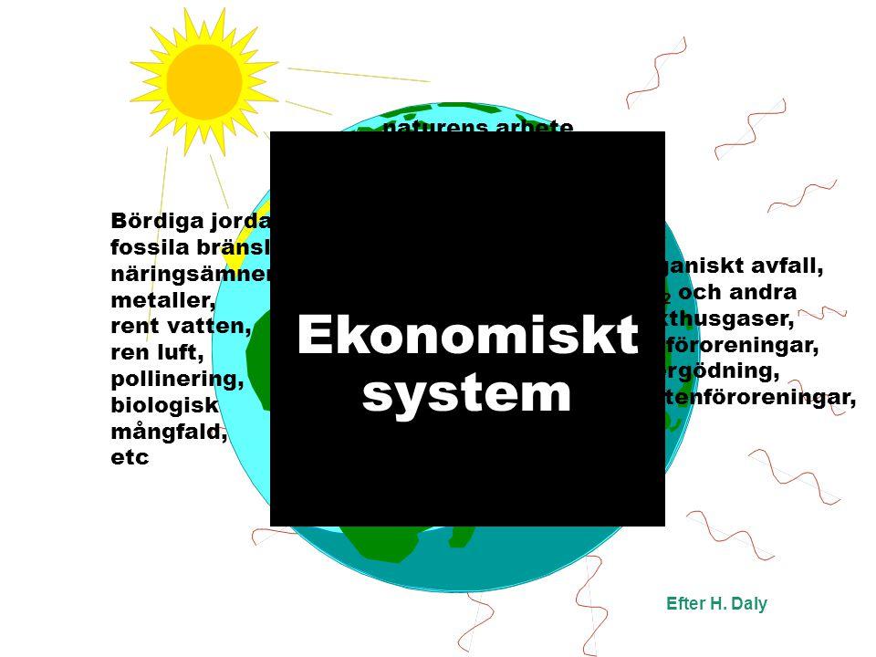 Ekonomiskt system naturens arbete ekosystemtjänster Efter H.
