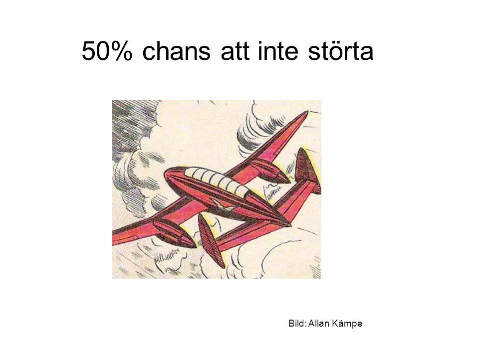 50% chans att inte störta Bild: Allan Kämpe