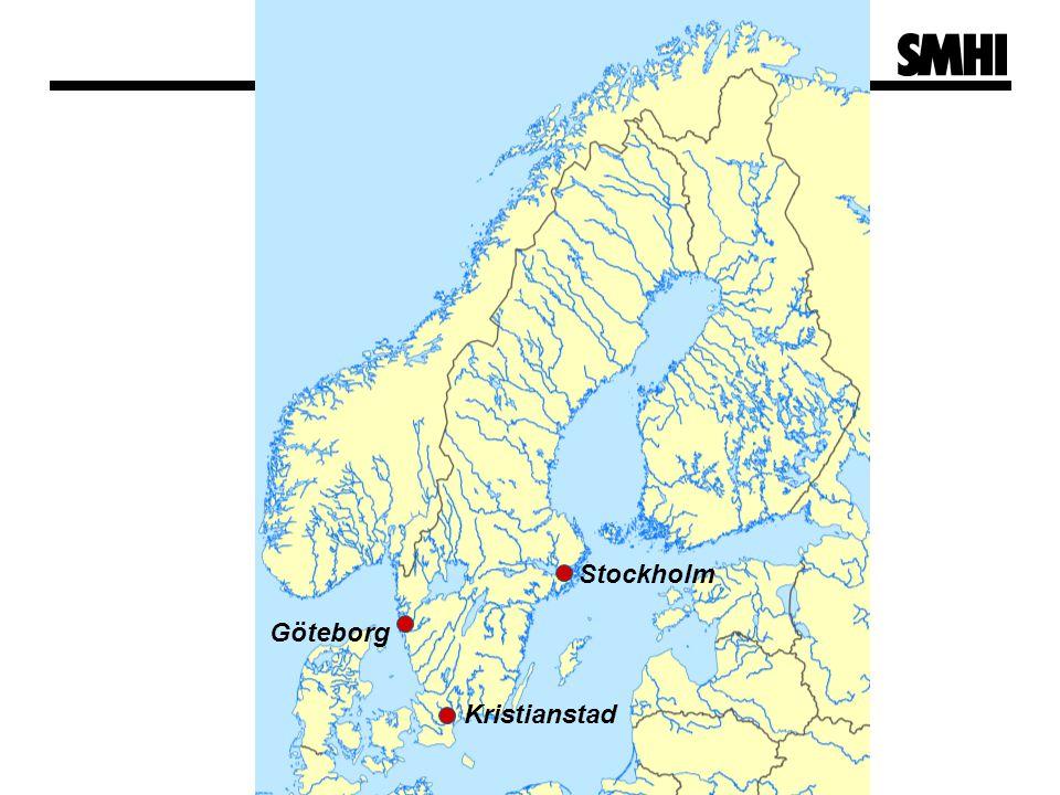 Kristianstad Stockholm Göteborg