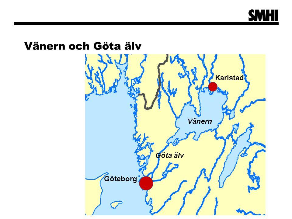 Vänern och Göta älv Karlstad Göteborg Göta älv Vänern