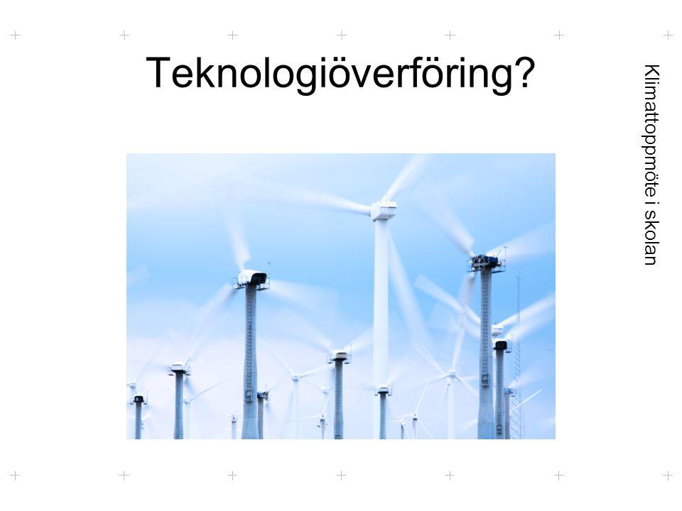 Klimattoppmöte i skolan Teknologiöverföring?