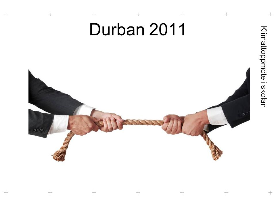 Klimattoppmöte i skolan Durban 2011