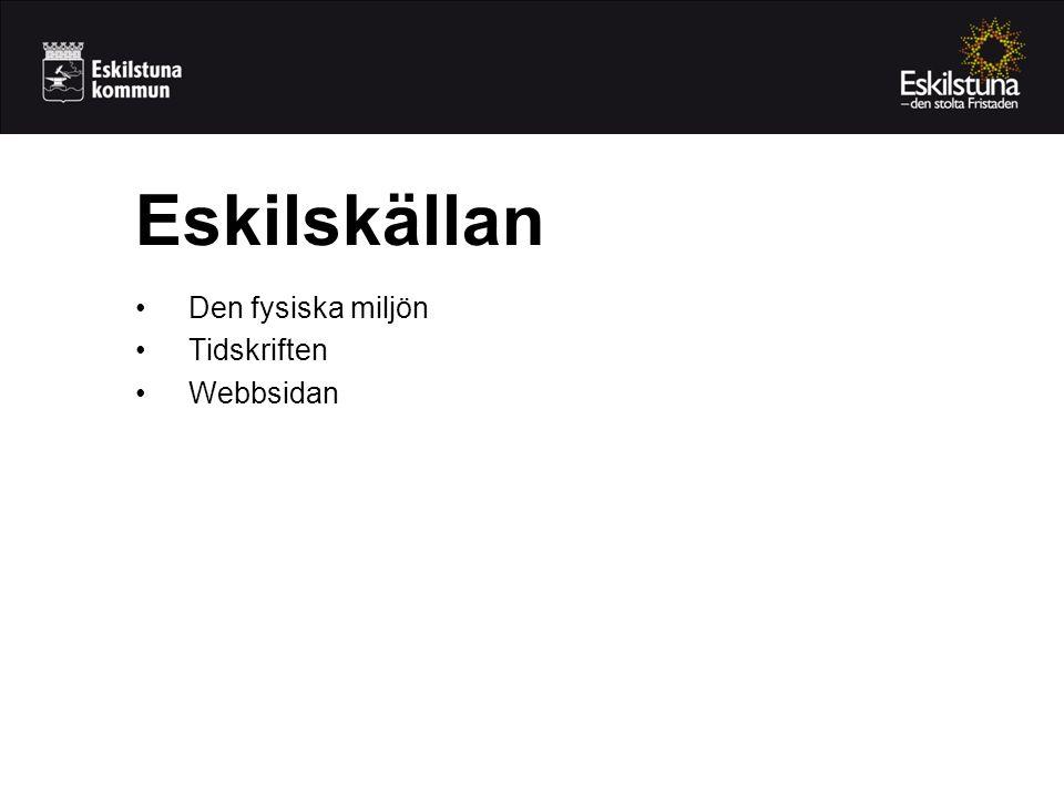Eskilskällan •Den fysiska miljön •Tidskriften •Webbsidan