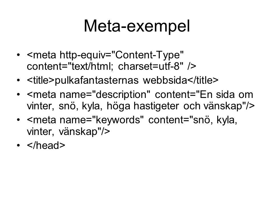 Meta-exempel • • pulkafantasternas webbsida •
