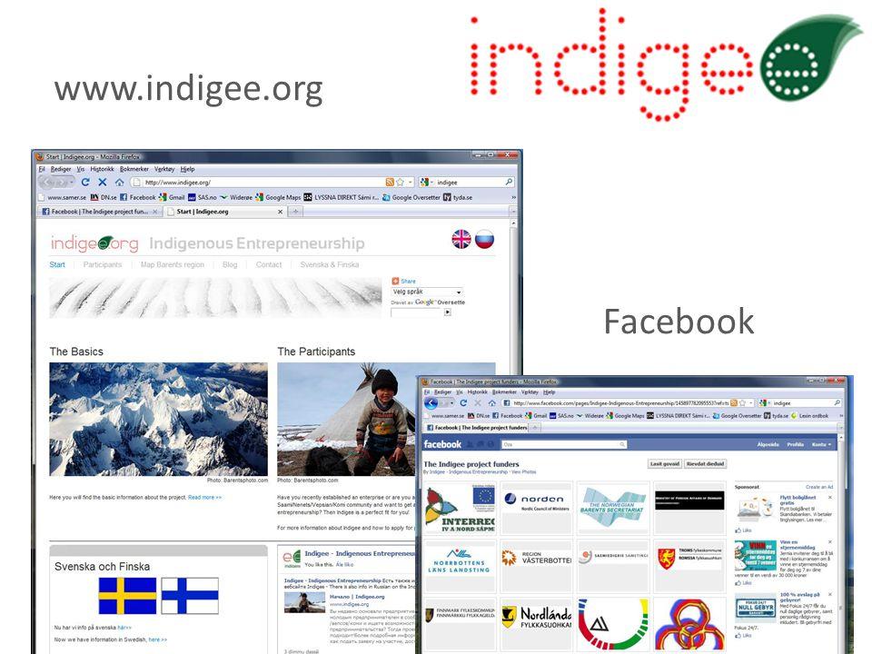 www.indigee.org Facebook