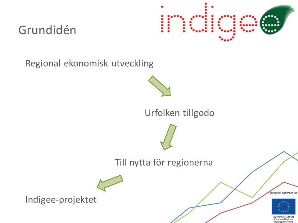 Regional ekonomisk utveckling Urfolken tillgodo Till nytta för regionerna Indigee-projektet Grundidén