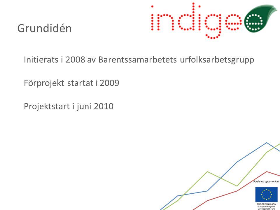 Initierats i 2008 av Barentssamarbetets urfolksarbetsgrupp Förprojekt startat i 2009 Projektstart i juni 2010 Grundidén