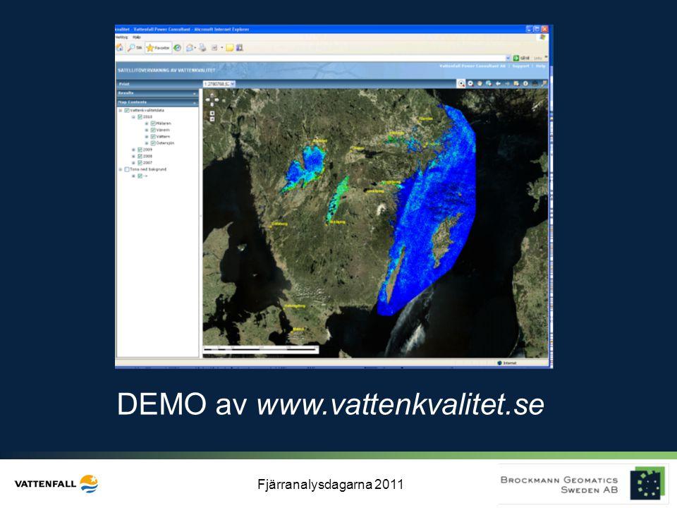 Fjärranalysdagarna 2011 DEMO av www.vattenkvalitet.se