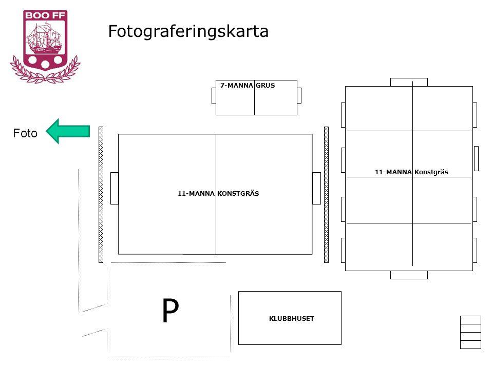 KLUBBHUSET 11-MANNA KONSTGRÄS 11-MANNA Konstgräs 7-MANNA GRUS P Fotograferingskarta Foto