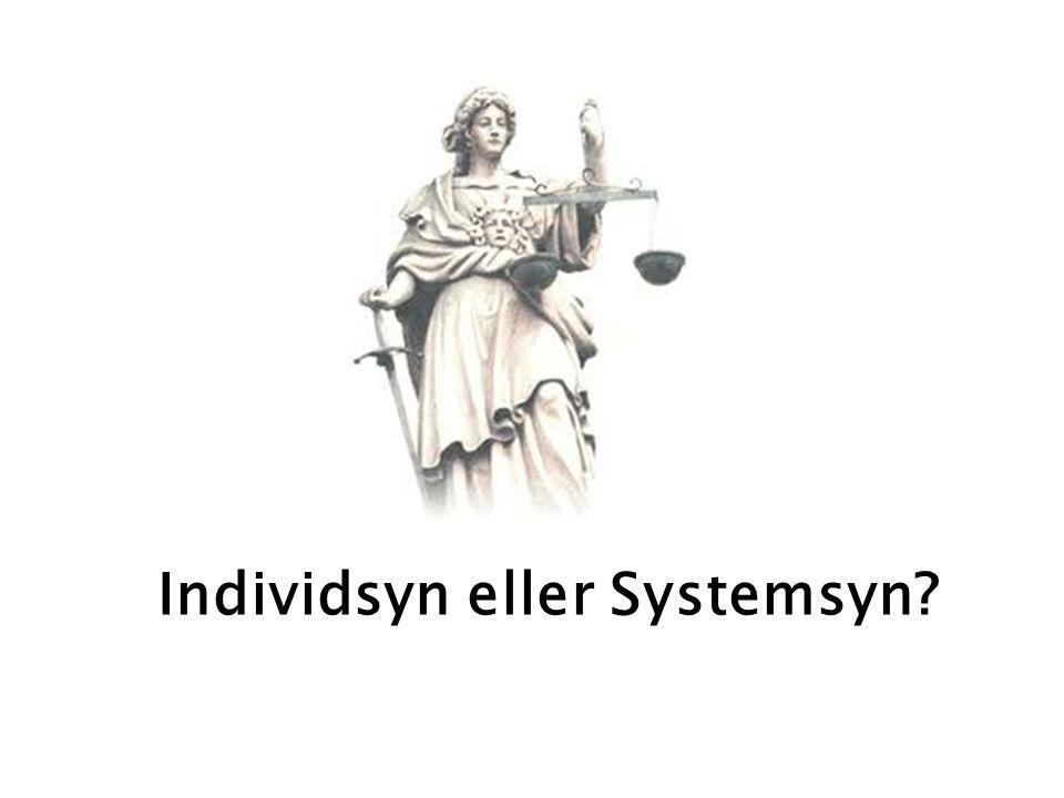 Individsyn eller Systemsyn?