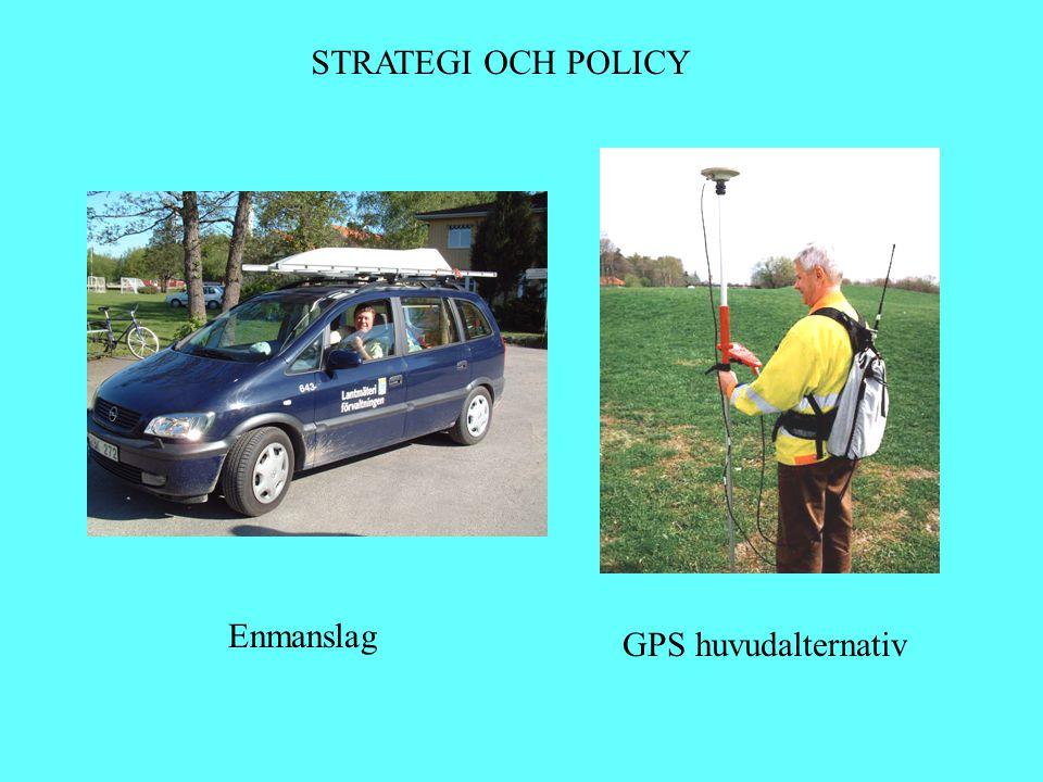 STRATEGI OCH POLICY GPS huvudalternativ Enmanslag