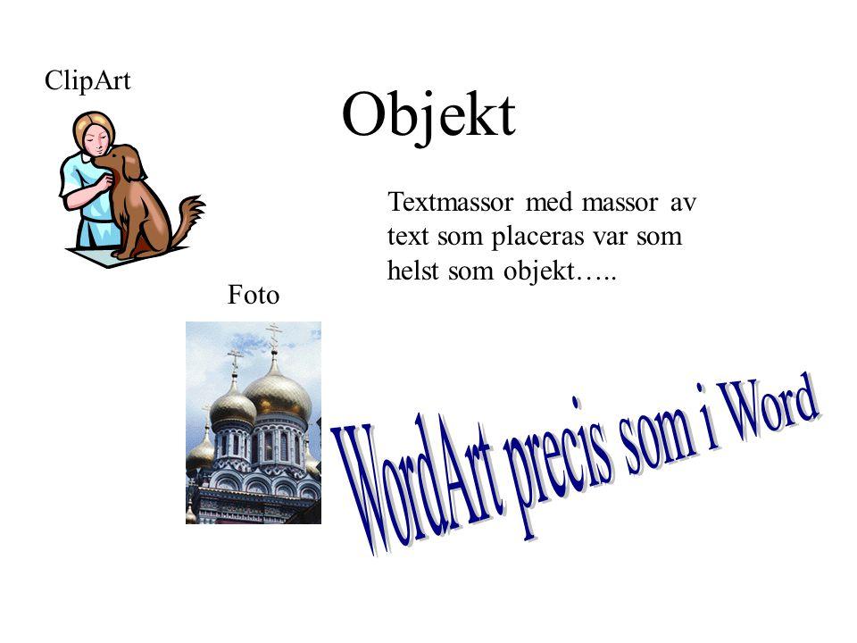 Objekt ClipArt Foto Textmassor med massor av text som placeras var som helst som objekt…..