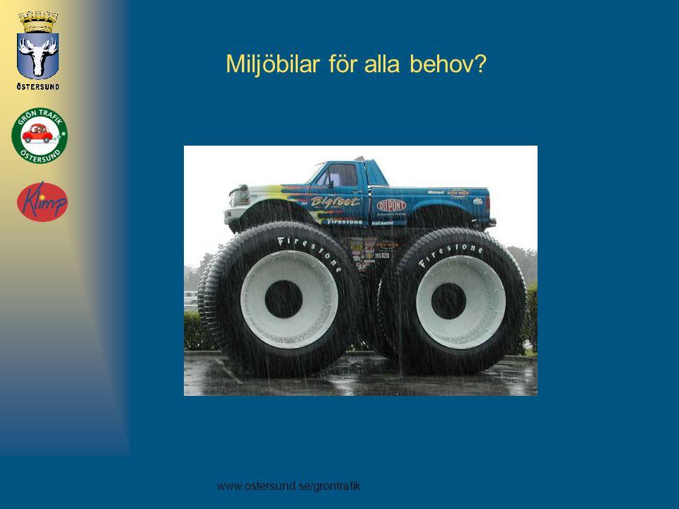 www.ostersund.se/grontrafik Miljöbilar för alla behov?