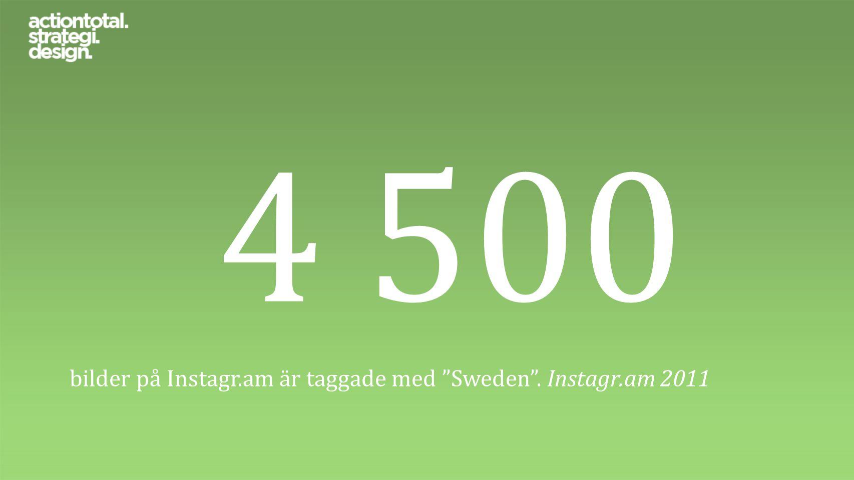 """4 500 bilder på Instagr.am är taggade med """"Sweden"""". Instagr.am 2011"""