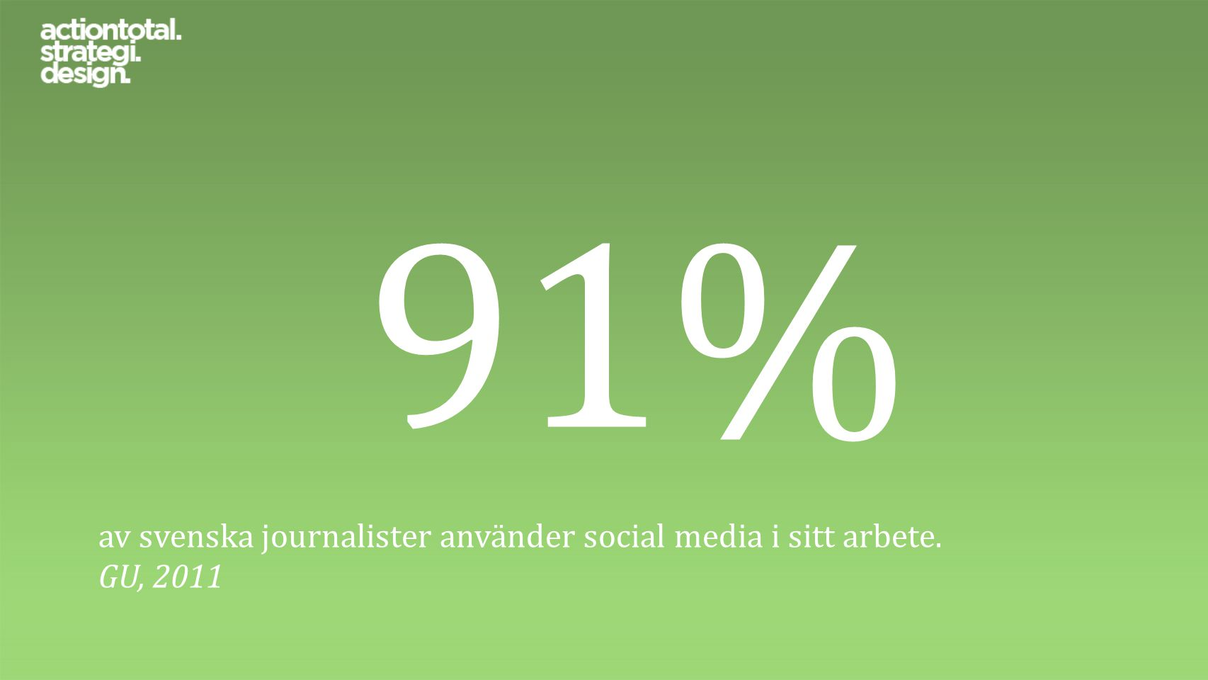 71% av svenska journalister använder social media för att få idéer och uppslag till nya reportage.