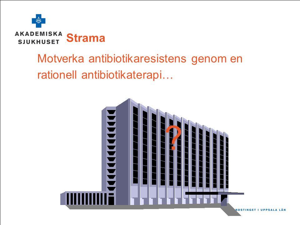 Strama Motverka antibiotikaresistens genom en rationell antibiotikaterapi… ?