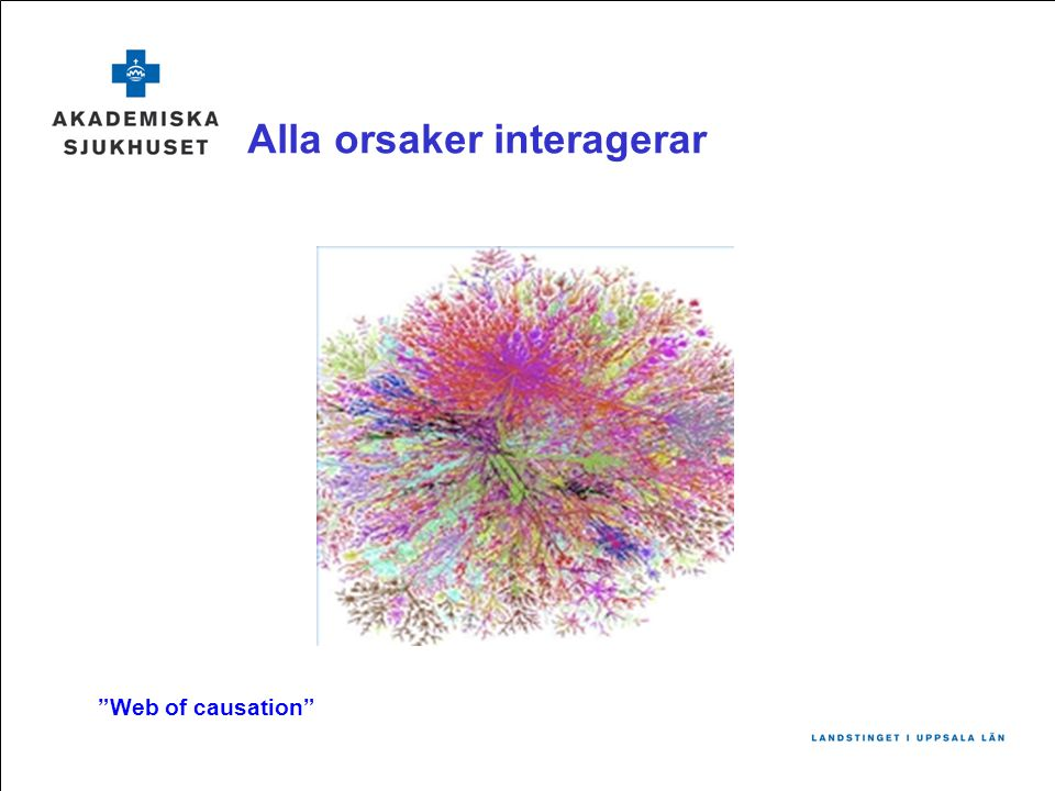 "Alla orsaker interagerar ""Web of causation"""