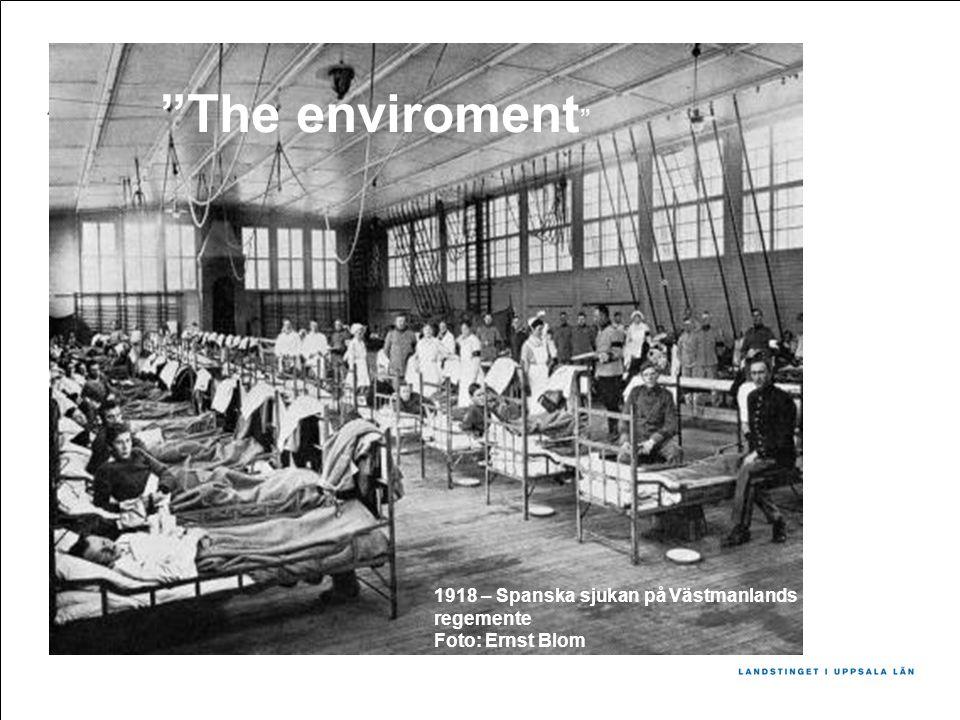 1918 – Spanska sjukan på Västmanlands regemente Foto: Ernst Blom The enviroment