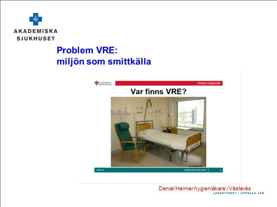 Problem VRE: miljön som smittkälla Daniel Heimer hygienläkare i Västerås
