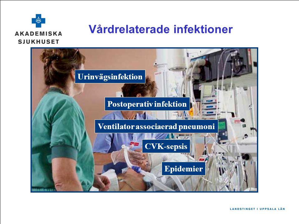 Postoperativ infektion Ventilator associaerad pneumoni CVK-sepsis Vårdrelaterade infektioner Urinvägsinfektion Epidemier