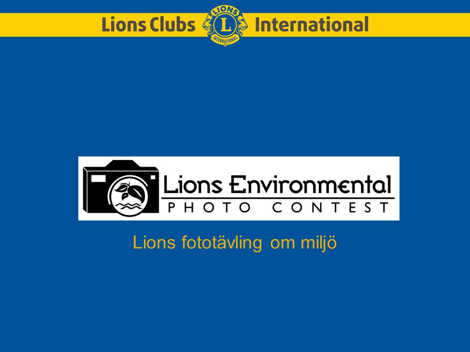 Lions fototävling om miljö