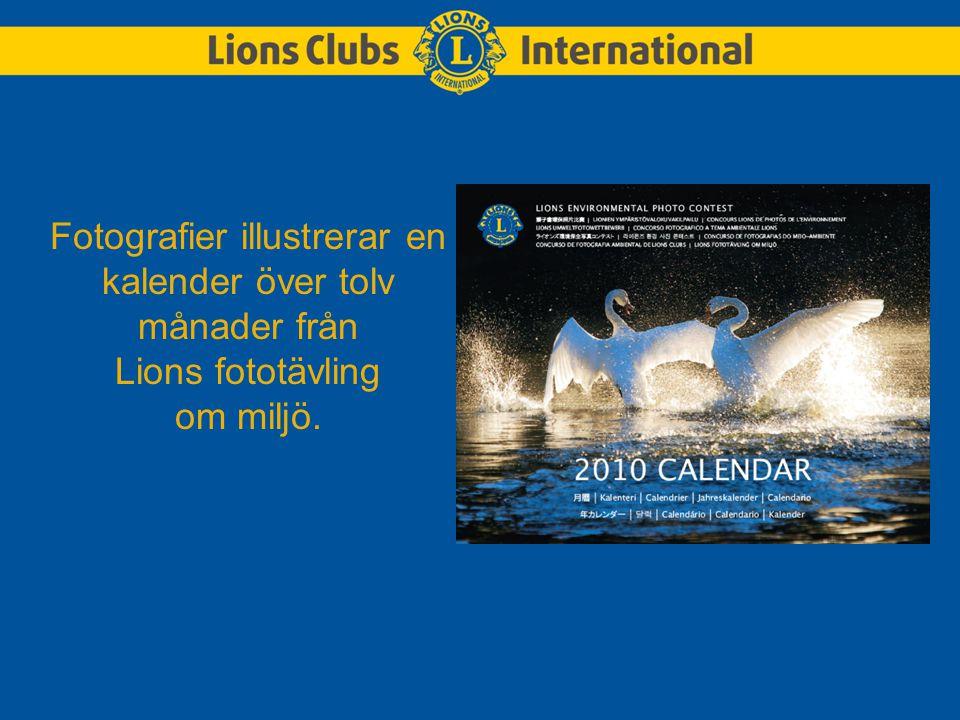 Fotografier illustrerar en kalender över tolv månader från Lions fototävling om miljö.