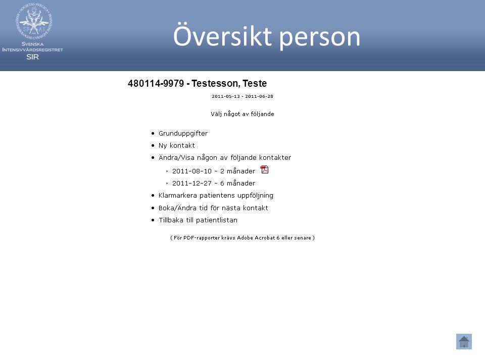 Översikt person 480114-9979 - Testesson, Teste