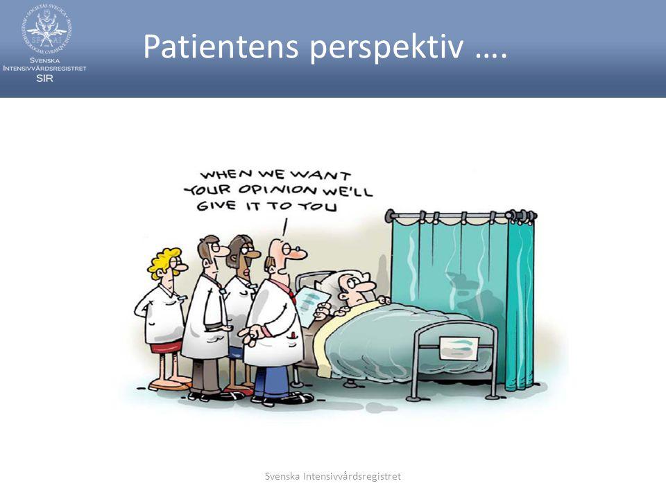 Svenska Intensivvårdsregistret Patientens perspektiv ….