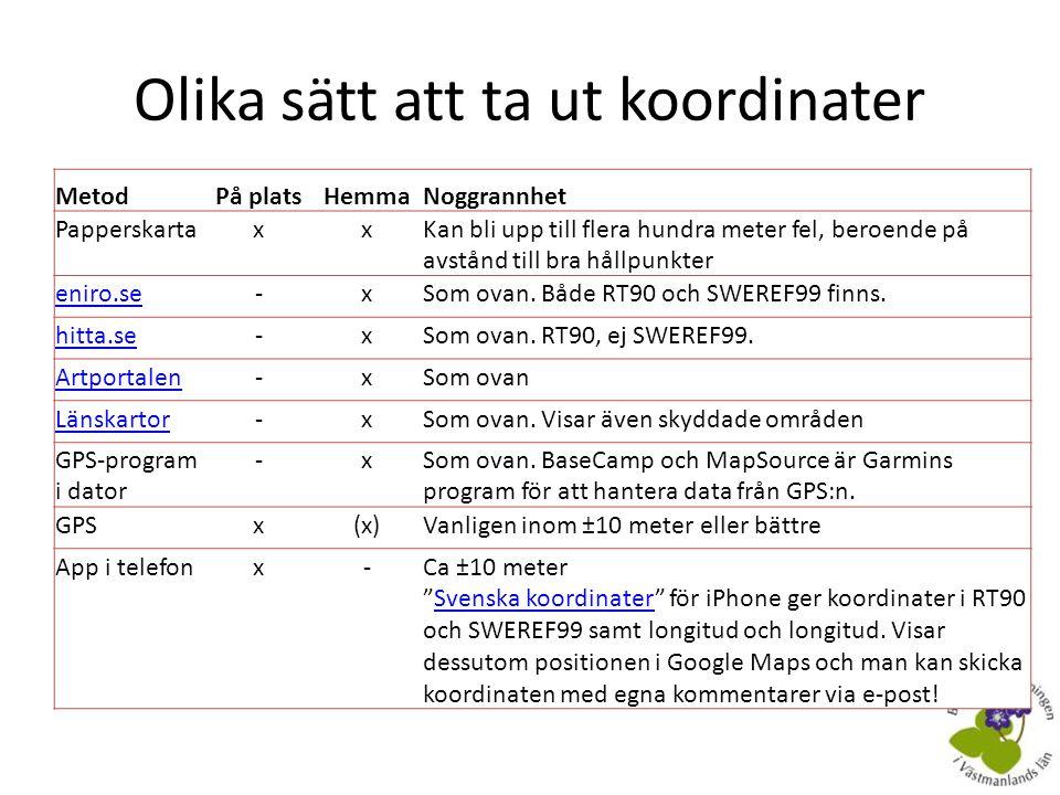 Appar för iPhone • RT90 och SWEREF99 – Kostar 15 kr, fungerar bra! • Bara latitud och longitud?