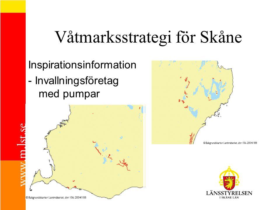 Våtmarksstrategi för Skåne Inspirationsinformation - Invallningsföretag med pumpar