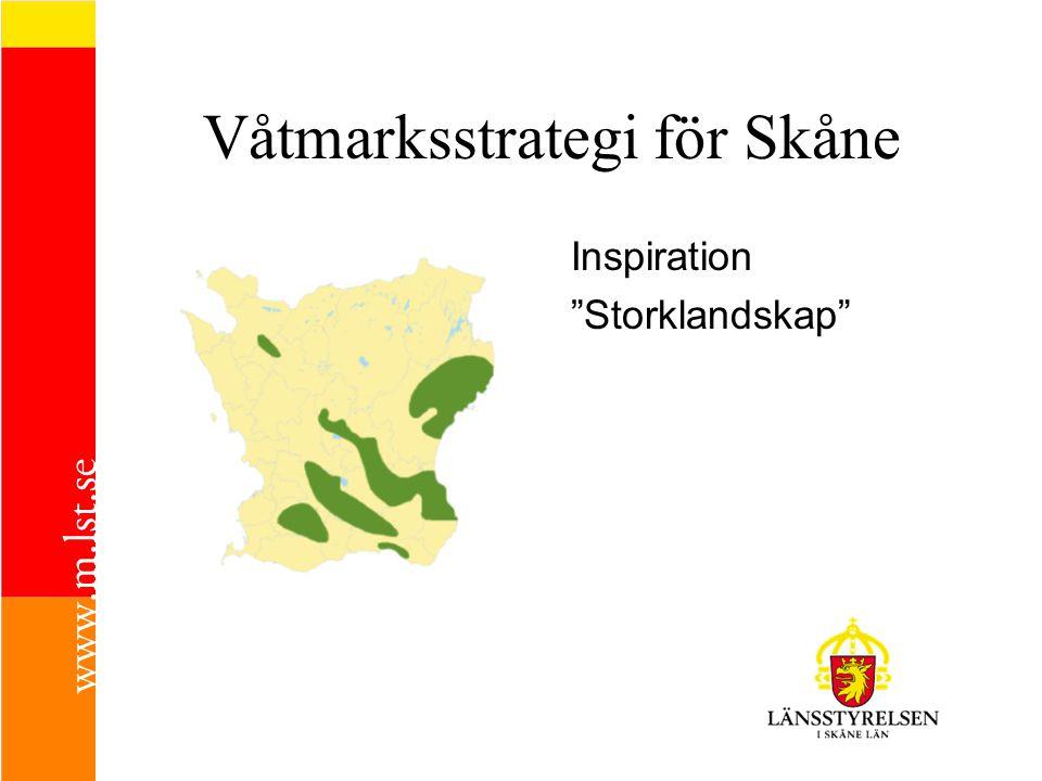 """Inspiration """"Storklandskap"""" Våtmarksstrategi för Skåne"""