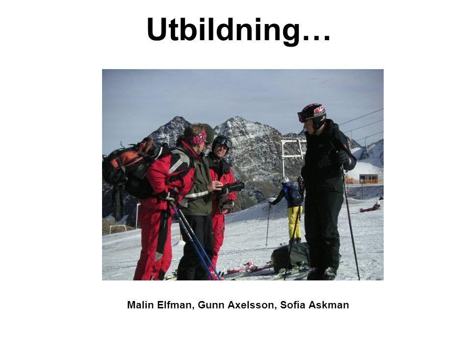 Malin Elfman, Gunn Axelsson, Sofia Askman Utbildning…