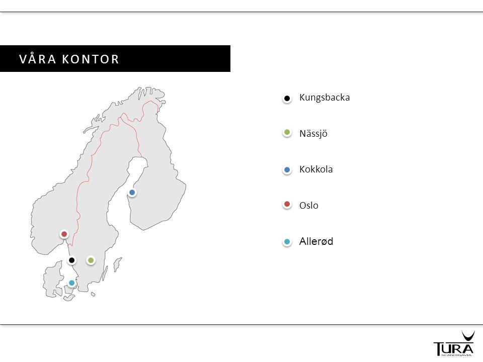 VÅRA KONTOR Kungsbacka Nässjö Kokkola Oslo Allerød