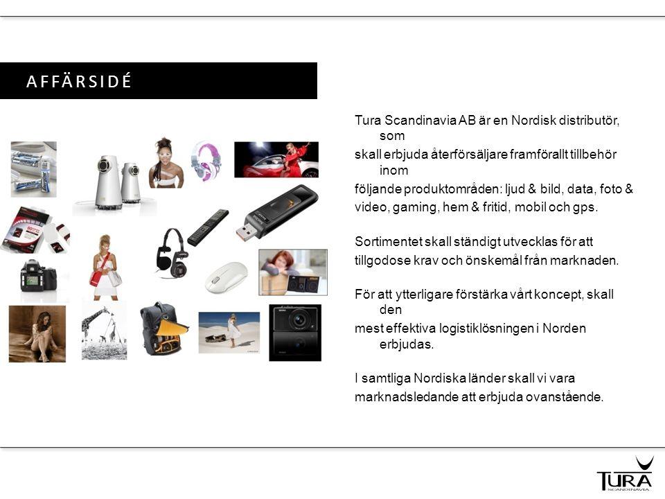 AFFÄRSIDÉ Tura Scandinavia AB är en Nordisk distributör, som skall erbjuda återförsäljare framförallt tillbehör inom följande produktområden: ljud & b